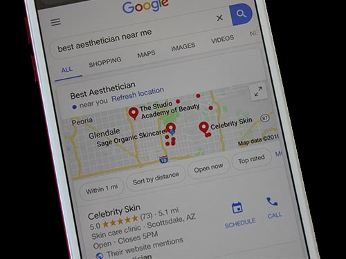 Google local SEO for medical practices